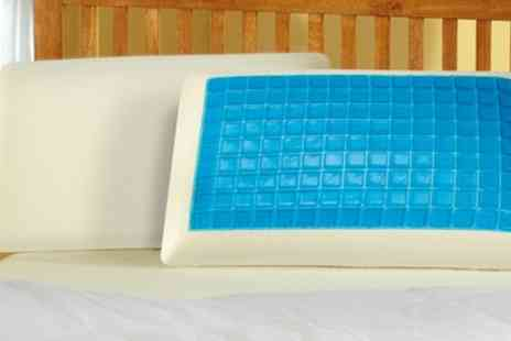 Groupon Goods Global GmbH - One or Two Contoured or Non Contoured Cool Gel Memory Foam Pillows - Save 64%