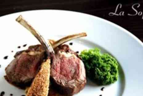 La Sophia - Three Courses of French Fine Dining For Two - Save 60%