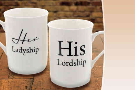 Direct 2 Publik - Two piece gift set of His Lordship and Her Ladyship mugs - Save 70%
