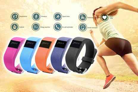Ezy Gadgets - Water resistant fitness tracker with a heart rate monitor choose from five colours - Save 90%