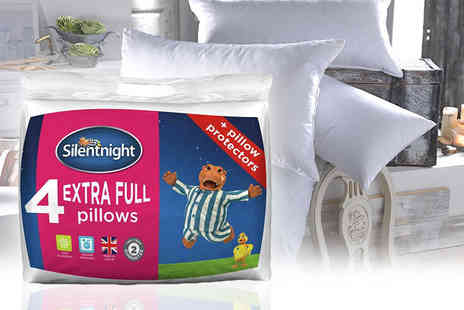 Chums - Four extra full Silentnight pillows and protectors - Save 53%