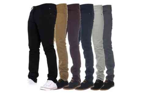 Groupon Goods Global GmbH - Mens Enzo Stretch Chino Jeans in Choice of Colours - Save 0%