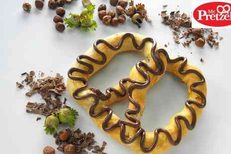 Mr Pretzels - Choice of Freshly Baked Pretzel and Drink for One, Two or Four - Save 43%