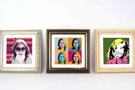 ARTF - One or Two Regular or Large Personalised Pop Art Framed Prints - Save 90%