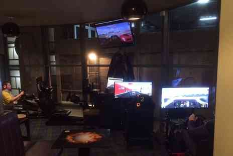 Golf Bar Leeds - 30 or 60 Minute Group Motor Racing Simulator Session with Pizza to Share - Save 0%