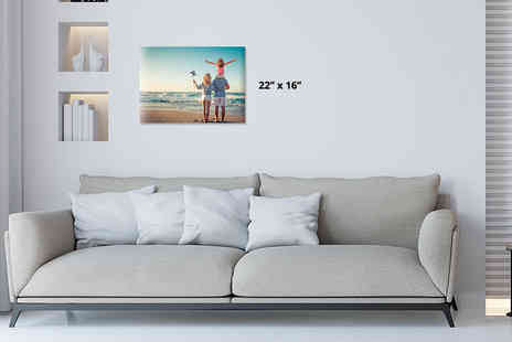 Your Perfect Canvas - One large personalised 22 Inch x16 Inch canvas - Save 80%