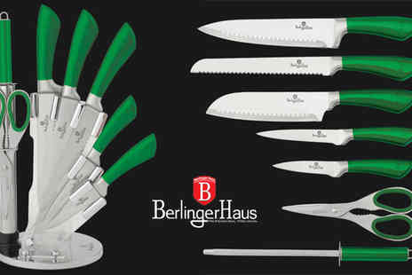 HK J and Y International Trading - BH-2268 Green Infinity Line Knife Set - Save 74%