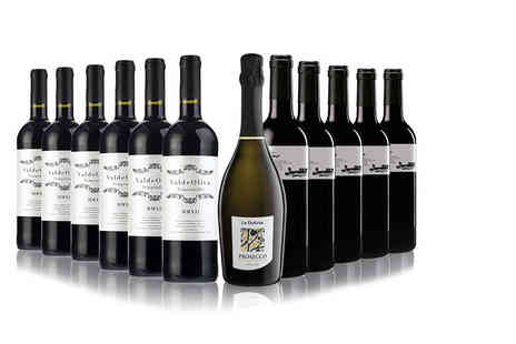 San Jamon - 11 bottle selection of Spanish red wine and a bottle of Prosecco - Save 40%