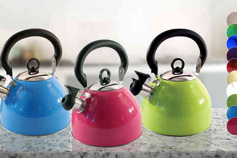 M&M Deals - 2.5L Whistling Kettle in 10 Colours - Save 0%