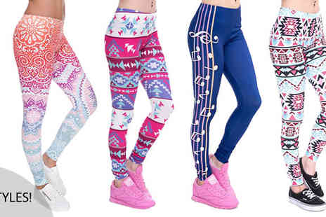 Richardson Group - Aztec High Waist Printed Leggings in 6 Styles - Save 67%