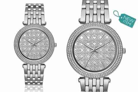 Gray Kingdom - Ladies Michael Kors silver Gullioche MK3404 watch - Save 54%