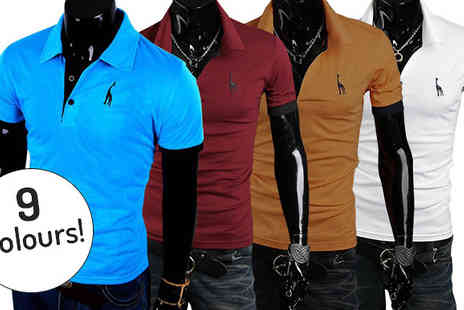Hawt Online - Mens Casual V Neck Slim Fit Polo Shirts Available in 9 Colours - Save 68%
