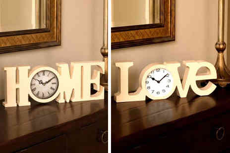 SHS Trading - Home or Love clock sign - Save 73%