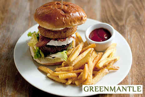 The Greenmantle - Buffalo burger for two with a cocktail or craft beer each - Save 55%