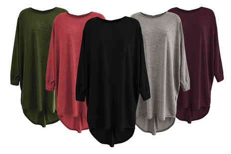 Verso Fashion - Oversized batwing top - Save 68%