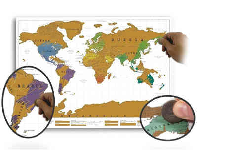 UK Home and Garden Store - Scratch off world map - Save 73%