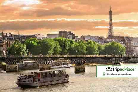 Short Breaks - Paris day trip with river cruise or one, two or three night stay with breakfast - Save 60%