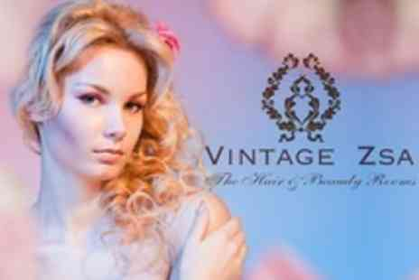 Vintage Zsa - Haircut, Blow Dry and Conditioning Plus Half Head Highlights or Colour - Save 76%