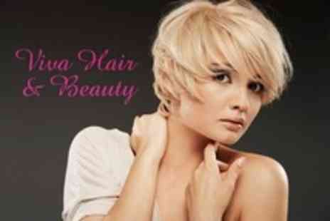 Viva Hair and Beauty - Full Head of Colour or Highlights With Cut and Finish - Save 72%