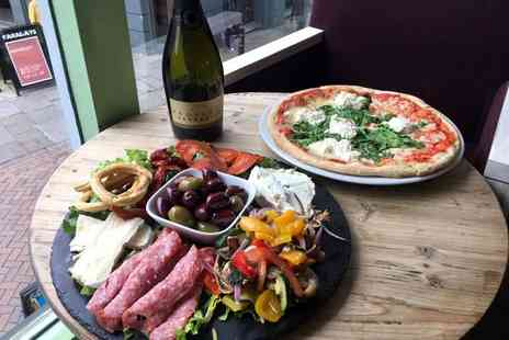 Ugly Bread Bakery - Pizza for two people with antipasto and a bottle of Prosecco - Save 0%