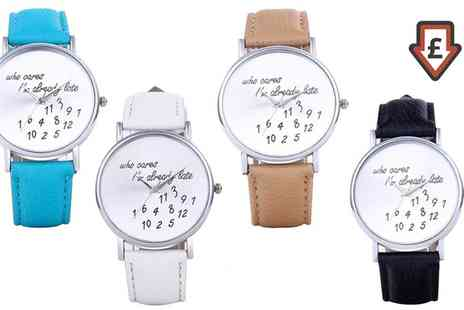Groupon Goods Global GmbH - Unisex Late Watches in Choice of Colour - Save 0%