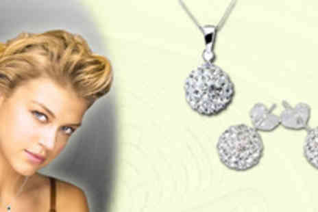 The Sparkle Company - Shamballa Pendant and earrings Stay a class above the rest with this stunning set - Save 70%