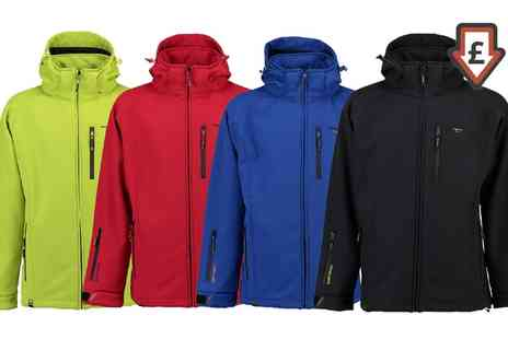 Groupon Goods Global GmbH - Mens Geographical Norway Tony Hood Tornado Softshell Jacket - Save 0%