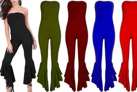 Groupon Goods Global GmbH - Frill Wide Leg Jumpsuit - Save 0%