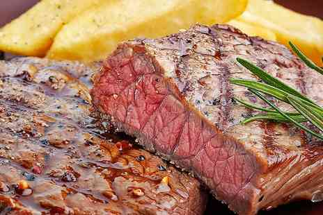 The Rosehip - Sirloin or Rib Eye Steak Meal for Two - Save 55%