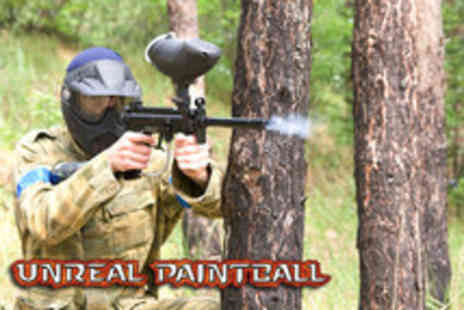 Unreal Paintball - Full day paintballing including 100 paintballs, lunch and all equipment - Save 88%