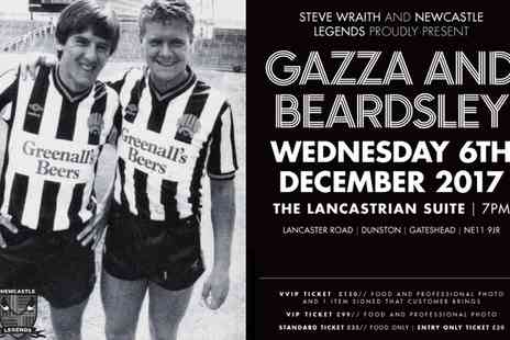 Newcastle Legends - One entry ticket to an evening with Gazza and Beardsley on 6 December 2017 - Save 30%