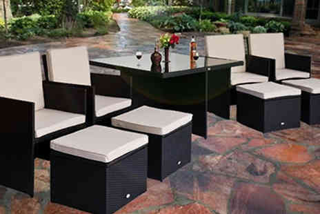 Mhstar - 9 Piece Rattan Cube Dining Set - Save 0%