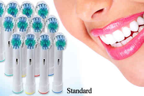 Ugoagogo - x24 Standard 24 Oral B Compatible Toothbrush Heads - Save 54%