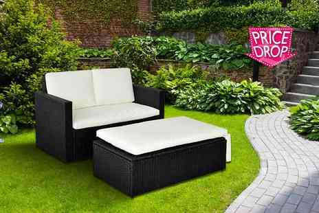 EVRE - Two person rattan love seat with a limited number available - Save 80%