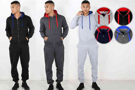 Be Jealous - Mens contrast thermal tracksuit - Save 41%