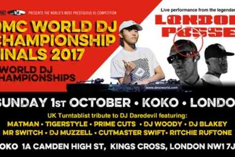 DMC - One or two tickets to The 2017 DMC World DJ Championships on 1 October 2017 - Save 20%