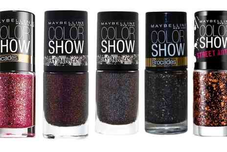 Groupon Goods Global GmbH - Bundle of Seven Maybelline New York Color Show Nail Polishes - Save 75%