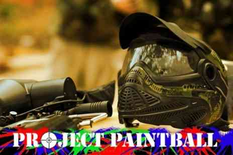 Project Paintball - Paintballing Experience with Full Kit, 100 Paintballs and Lunch with Tea or Coffee - Save 82%