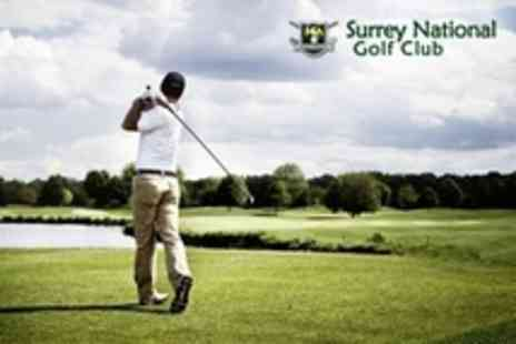 Surrey National Golf Club - Five Hours of Golf Tuition With Video Analysis, Seven Iron and Driving Range Tokens  - Save 66%