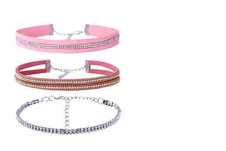 My Boutique Store - Three piece crystal choker set - Save 87%