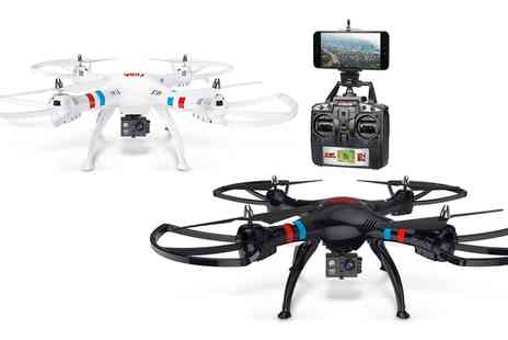 Groupon Goods Global GmbH - Large Quadcopter 63cm Drone with HD Camera and Live Wi Fi Feed With Free Delivery - Save 0%