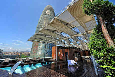 The Gates Diagonal Barcelona - Four Star Chic Catalan Style Stay For Two with Rooftop Pool - Save 74%
