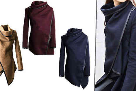 Bonicaro Design - Asymmetric 2 Way Coat Choose 3 Colours - Save 78%