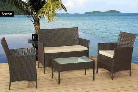 Rattan Trends - Rattan garden sofa set - Save 83%