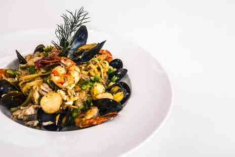 Milano - Three course Italian for two including a bottle of Champagne - Save 54%