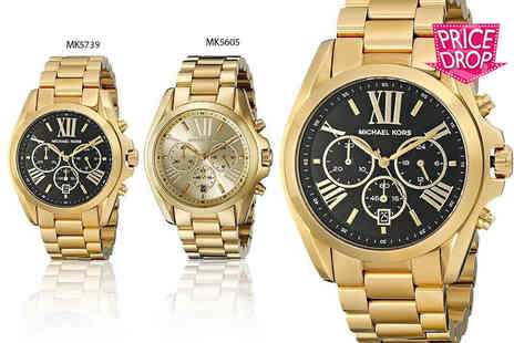 Wristy Business - Michael Kors Bradshaw watch choose from two stunning designs - Save 48%