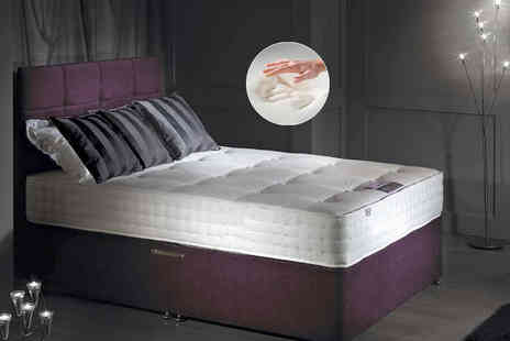 The Sleep People - Single bonnell and memory sprung mattress, small double, double or king - Save 83%