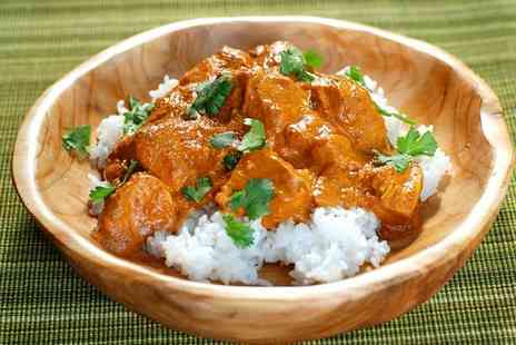 Paradise Takeaway - Three Course Indian Takeaway Meal for Up to Four - Save 38%