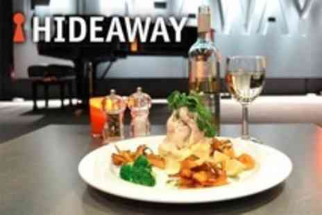 Hideaway - Night of Live Music Plus Two Course Meal and Drinks For Two - Save 61%