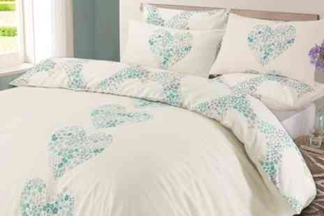 Groupon Goods Global GmbH - Lizzie Reversible Duvet Set in Choice of Colour and Size - Save 72%
